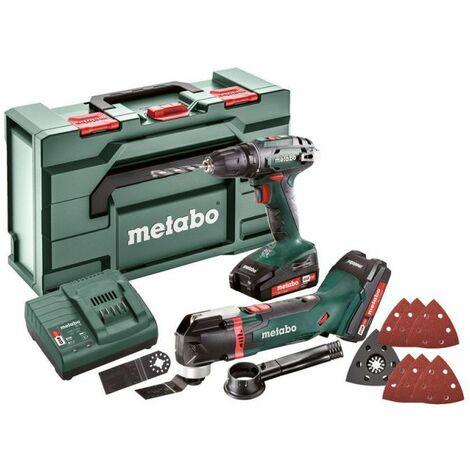 Metabo Combo Set 2.6.1 18 V Machines sans fil en set, 18V, metaBOX 145 L, BS 18 + MT 18 LTX - 685081000