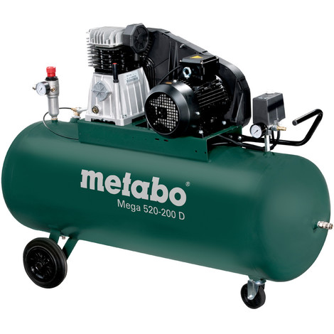 Metabo - Compresseur 200L 3 kW 10 bar - Mega 520-200 D