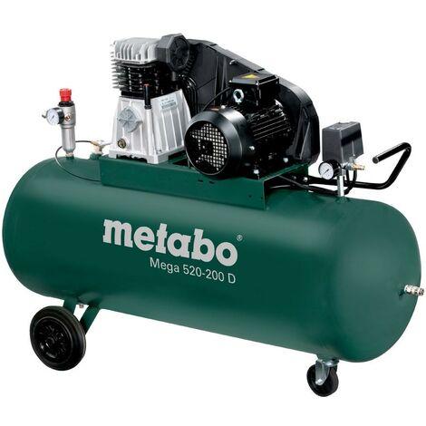 Metabo Compresseur Mega 520-200 D - 400V - 200 Litres - 10 bar