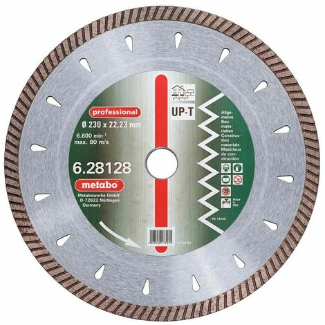 """Metabo Diamant-Trennscheibe, 230 x 2,7 x 22,23 mm, """"professional"""", """"UP-T"""", Turbo, Universal - 628128000"""