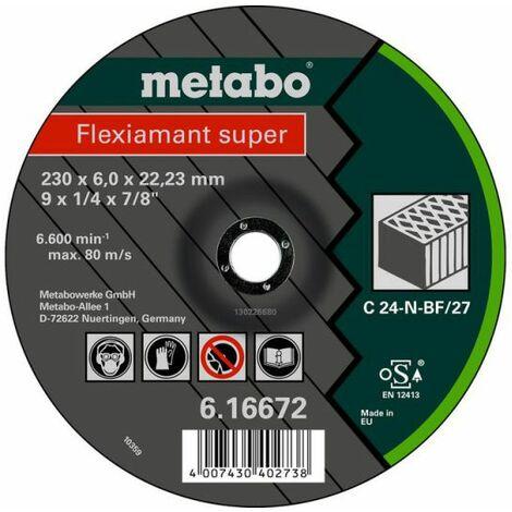 Metabo FLEXIAMANT SUPER 125X6,0X22,23 PIEDRA, SF 27 (616731000)
