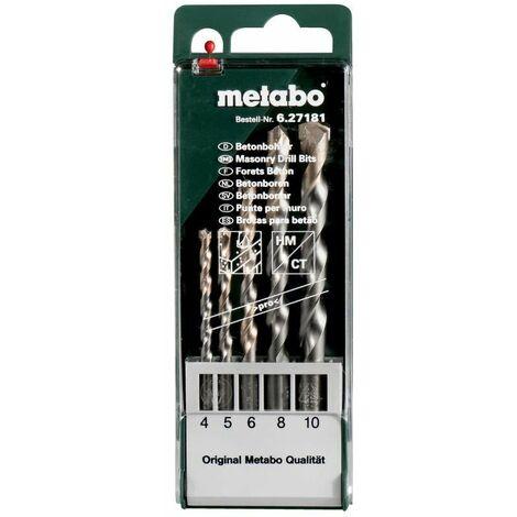 """Metabo Foret à béton, à mise carbure rapportée, série """"pro"""" 5 pièces"""