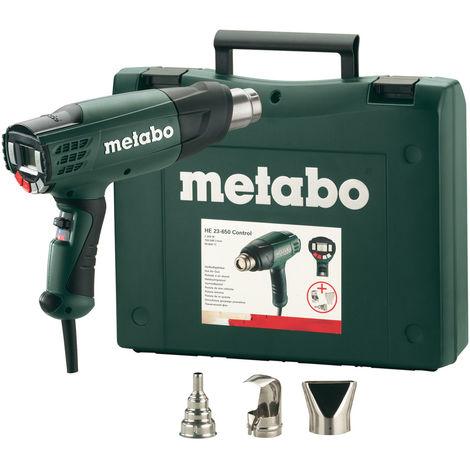 Metabo HE 23-650 Pistola de aire caliente, accesorios incluidos en estuche - 2300W