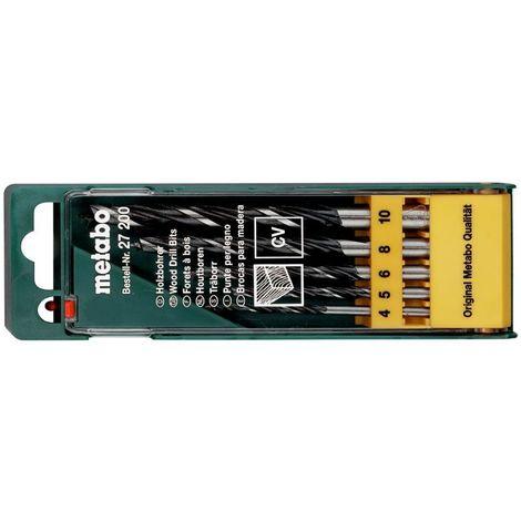 Metabo Holzbohrer-Kassette, 5-teilig Hart- und Weichholz, Sperrholz, Spanplatten