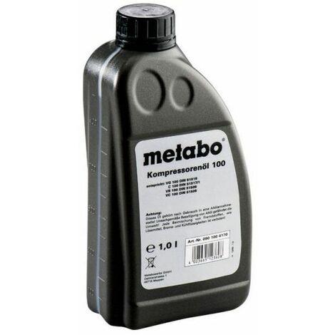 metabo huile pour compresseur 1 litre pour compresseur. Black Bedroom Furniture Sets. Home Design Ideas