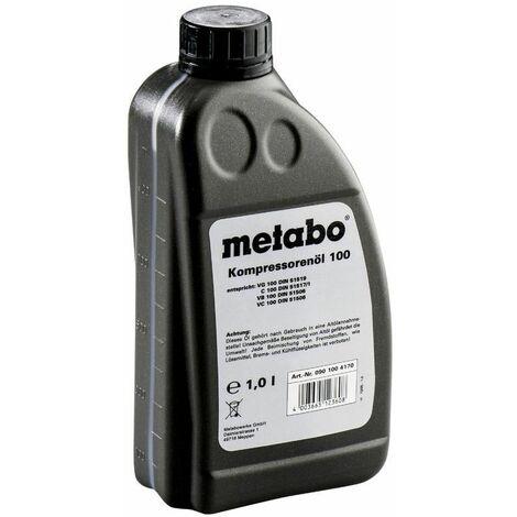 Metabo Huile pour compresseur, 1 litre, pour compresseur à piston - 0901004170