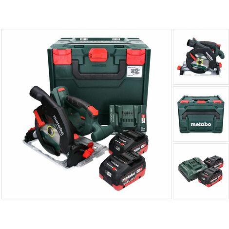 Metabo KS 18 LTX 57 Scie circulaire sans fil 18V 165x20mm + 2x Batteries 8,0Ah + Chargeur + Coffret MetaLoc ( 601857810 )