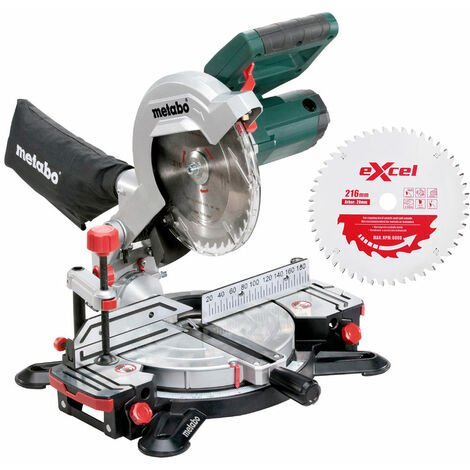 Metabo KS216M Lasercut Compound Crosscut Mitre Saw 240V Extra 1 x 48T Blade:240V