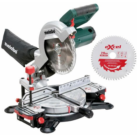 Metabo KS216M Lasercut Compound Crosscut Mitre Saw 240V Extra 1 x 60T Blade:240V