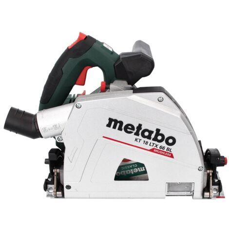 Metabo KT 18 LTX 66 BL 18V Litio-ion Sierra circular de inmersión de batería (sólo maquina) en MetaBox - 165 x 20 mm - 66 mm