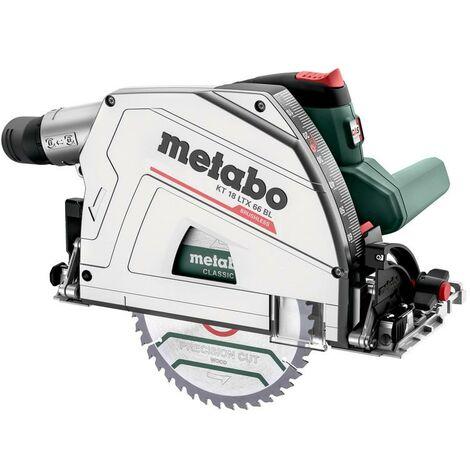 Metabo KT 18 LTX 66 BL Scie circulaire plongeante sans fil, 18V 2x8Ah LiHD, Chargeur ASC 145, metaBOX 340 - 601866810