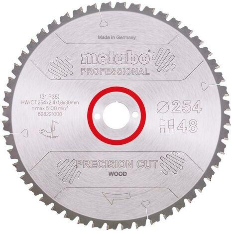Metabo Lama per seghe circolari HW/CT 254x30, 48 DA 5° neg. - 628221000