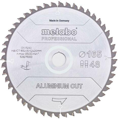 Metabo Lame de scie 'Aluminium cut - Professional' 165x20 Z48 FZ/TZ 5°neg - 628276000