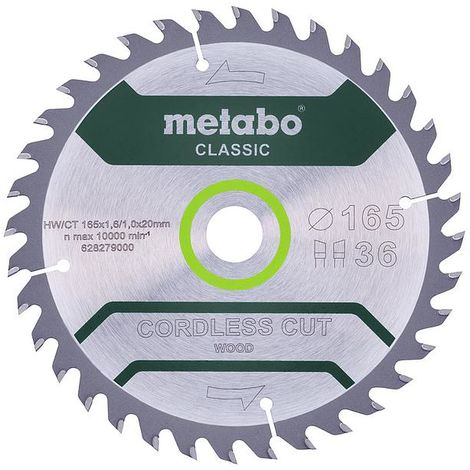 Metabo - Lame de scie circulaire classic 165x1.6x20 mm 36 dents WZ - TNT