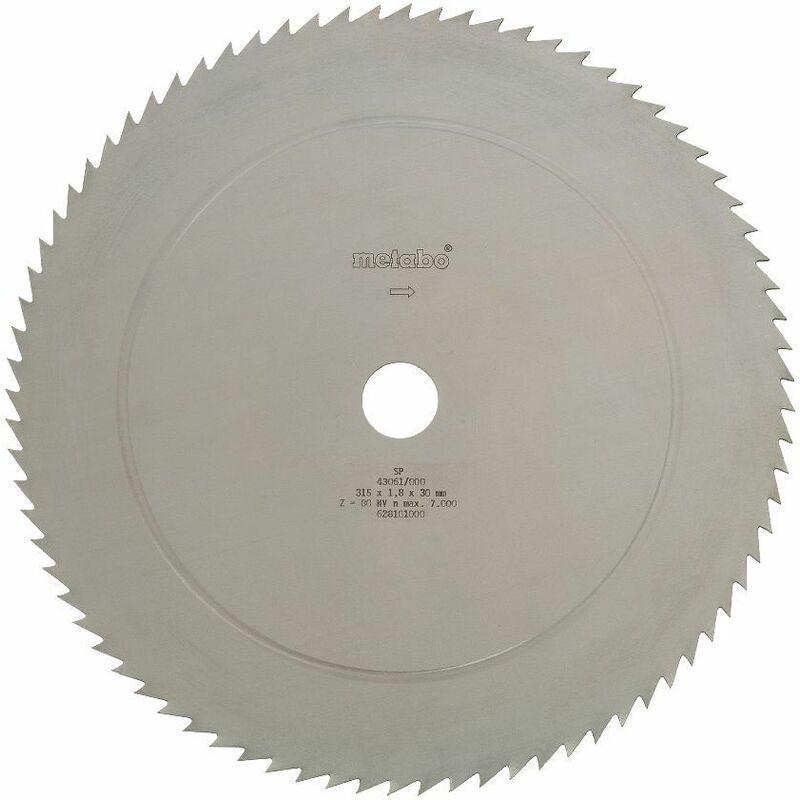 metabo lame de scie circulaire cv 315 x 30  80 nv