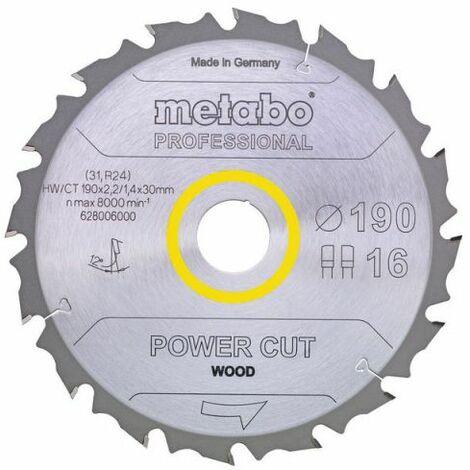 Metabo LAME DE SCIE CIRCULAIRE HW/CT 160 X 20, 30 WZ 5° (628071000)