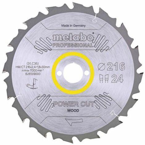 Metabo Lame de scie circulaire hw/ct 216 x 30, 24 wz 5° nég. (628009000)