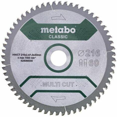 Metabo Lame de scie circulaire hw/ct 216 x 30, 60 fz/tz, 5° nég. (628066000)