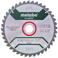 Metabo Lame de scie circulaire HW/CT 216 x 30 x 2,4/1,8