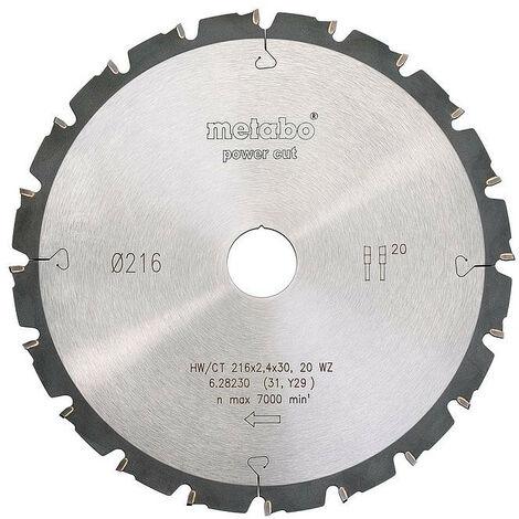 Metabo - Lame de scie circulaire HW/CT 216x2.4x30 mm 20 WZ