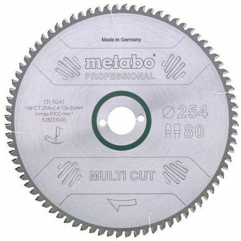 Metabo Lame de scie circulaire hw/ct 216x30, 64, denture plate/denture trapézoïdale,10° (628063000)