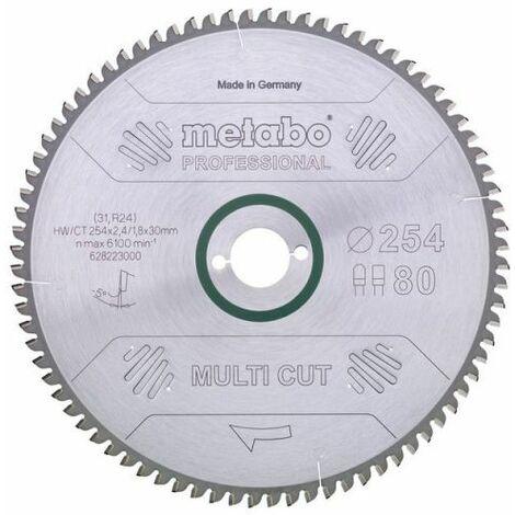 Metabo Lame de scie circulaire hw/ct 250 x 30, 80 wz, 10° (628087000)