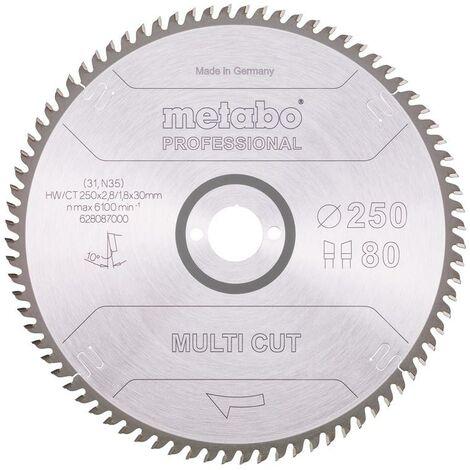 Metabo Lame de scie circulaire HW/CT 250 x 30, 80 WZ, 10°