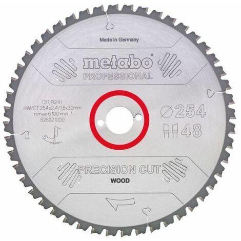 Metabo Lame de scie circulaire HW/CT 254 x 30, 24 WZ 5° nég.