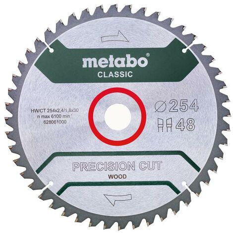 Metabo Lame de scie circulaire HW/CT 254 x 30 x 2,4/1,8