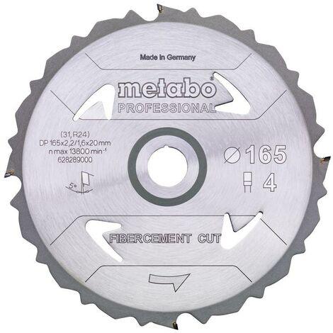 Metabo Lame de scie 'Fibercement cut - Professional', 165x20 Z4 DFZ 5° - 628289000