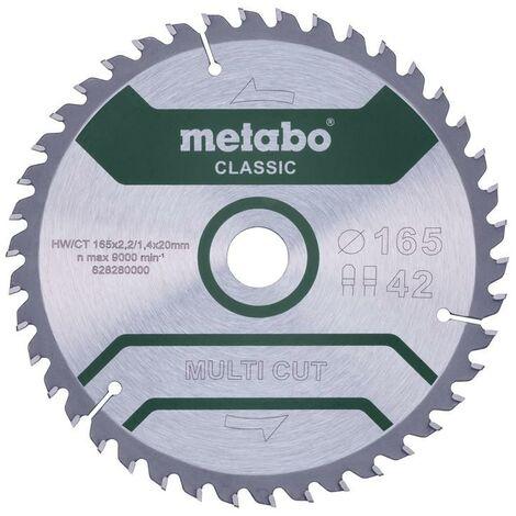 Metabo Lame de scie 'Multi cut - Classic', 165x20 Z42 FZ/TZ 5° - 628280000