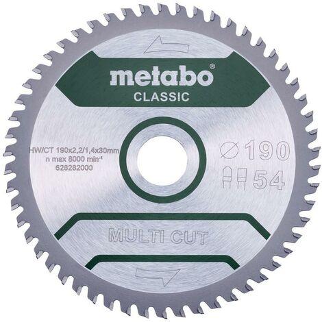 Metabo Lame de scie 'Multi cut - Classic', 190x30 Z54 FZ/TZ 5° /B - 628663000