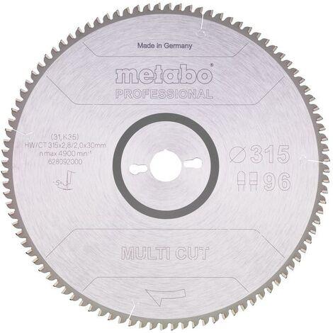 Metabo Lame de scie 'Multi cut - Professional', 315x30, Z96 FZ/TZ, 5° nég. - 628092000