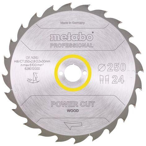 Metabo Lame de scie 'Power cut wood - Professional', 250x30, Z24 WZ 25° - 62801200