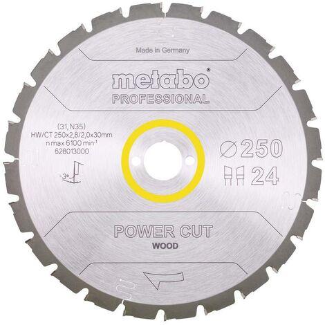 Metabo Lame de scie 'Power cut wood - Professional', 250x30, Z24 WZ 3° nég. - 62801300