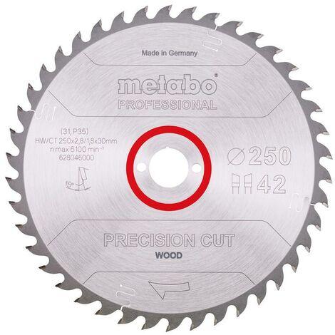 Metabo Lame de scie 'Precision cut wood - Professional', 250x30, Z42 WZ 15° - 62804600
