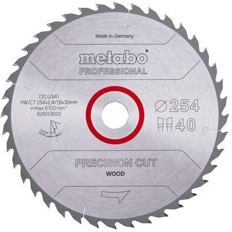 Metabo Lame de scie 'Precision cut wood - Professional', 254x30, Z40 WZ 20° - 628059000