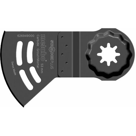 Metabo Lame de scie « Starlock Plus » bois/abrasive, carbure, 40 x 53 mm - 626949000