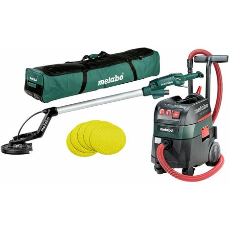 Metabo Machines filaires en set LSV 5-225 + ASR 35 M ACP Set + 25 feuilles abrasives auto-agrippantes 225 mm P 120, Mallette souple - 690939000