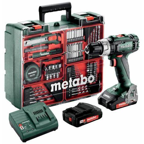 Metabo Marteau perforateur sans fil SB 18 L SET   2x batterie 2,0 Ah + accessoires outils