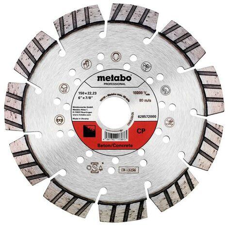 Metabo Meule de tronçonnage diamantée 150x22,23mm, « CP », Béton « professional » - 628572000