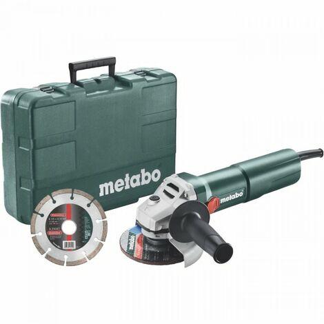 METABO Meuleuse 125 mm W 1100-125 Set Coffret + diamond cutting disc
