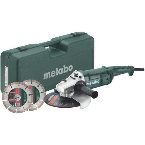 METABO Meuleuse - 230 mm WEP 2200-230 + Coffret + 2 disques diamants