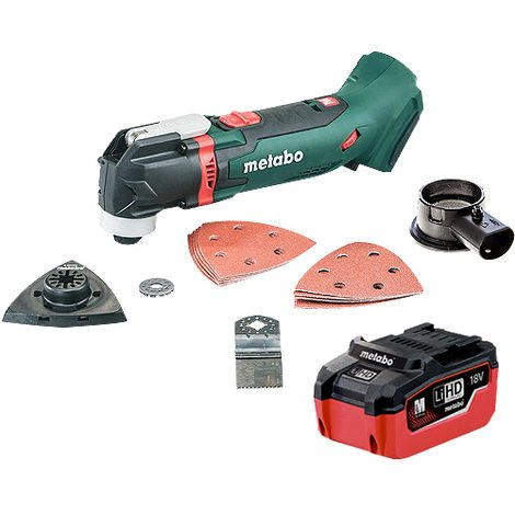 Metabo MT 18 LTX 18V Multi Tool & Accessories with 1 x 5.5Ah Battery