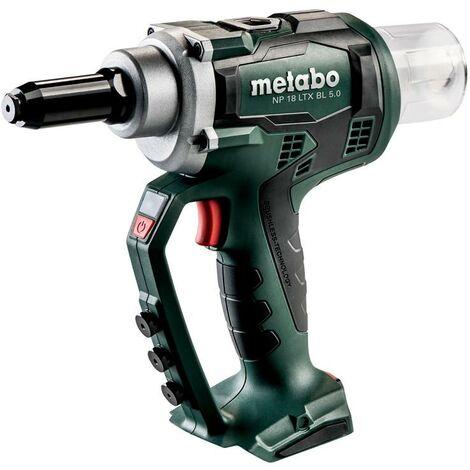 Metabo NP 18 LTX BL 5.0 Pistolet à riveter sans fil, 18V, MetaLoc - 619002840