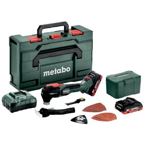Metabo Outil multifonctions sans fil MT 18 LTX BL QSL, metaBOX 145 L, 18V 2x4Ah LiHD + ASC 55 - 613088800