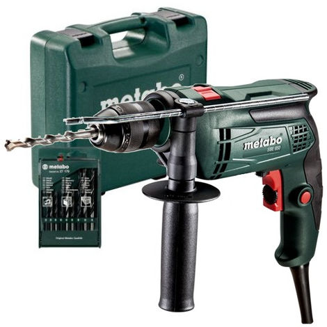 METABO Perceuse à percussion 650W + 13 forets - SBE650 - 690918000