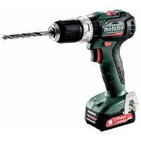 Metabo Perceuse à percussion sans fil PowerMaxx SB 12 BL, Coffret, 12V 2x2Ah Li-Ion + SC 30 - 601077500