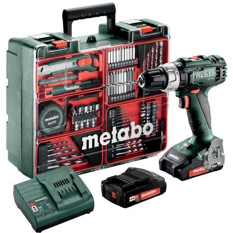Metabo Perceuse à percussion sans fil SB 18 L Set , 18V 2x2Ah Li-Ion, Chargeur SC 30, Coffret, Atelier mobile - 602317870