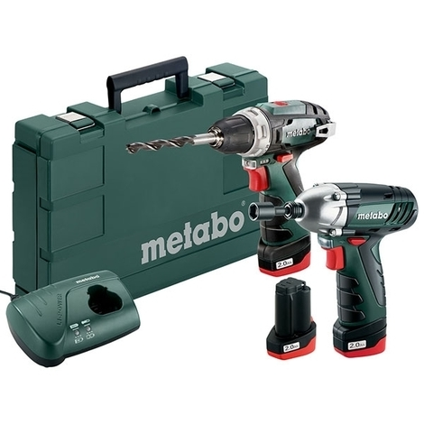 METABO Perceuse BS Basic + Visseuse à choc SSD 10.8V 2Ah - 685092000
